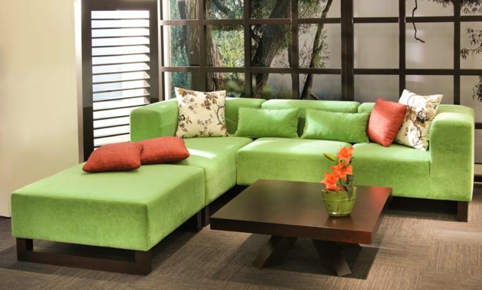 grünes wohnzimmer ideen:grünes wohnzimmer ideen : ideen grün macht das wohnzimmer immer