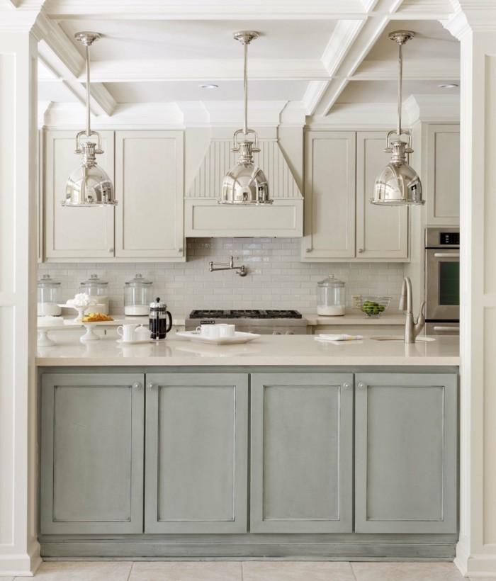 wohnideen küche elegante wandfliesen in neutrale farbe