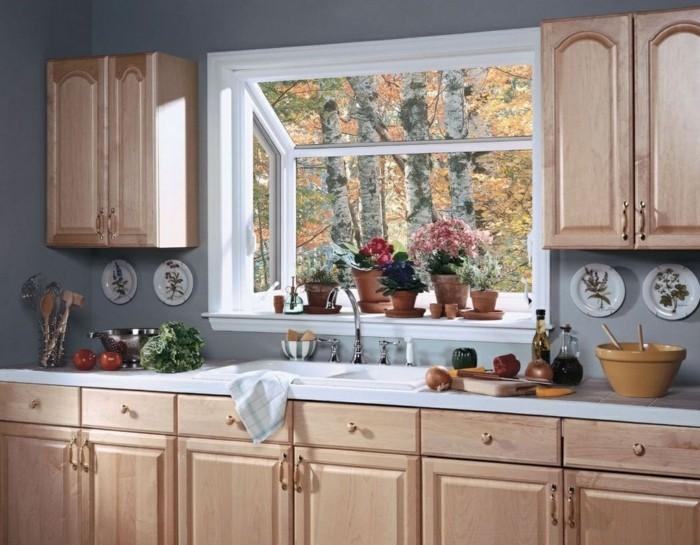 Wohnideen Küche Graue Wände Und Viele Pflanzen 66 Wandgestaltung Küche Ideen  U2013 Wie Erreicht Man Den Erwünschten Küchen Look?