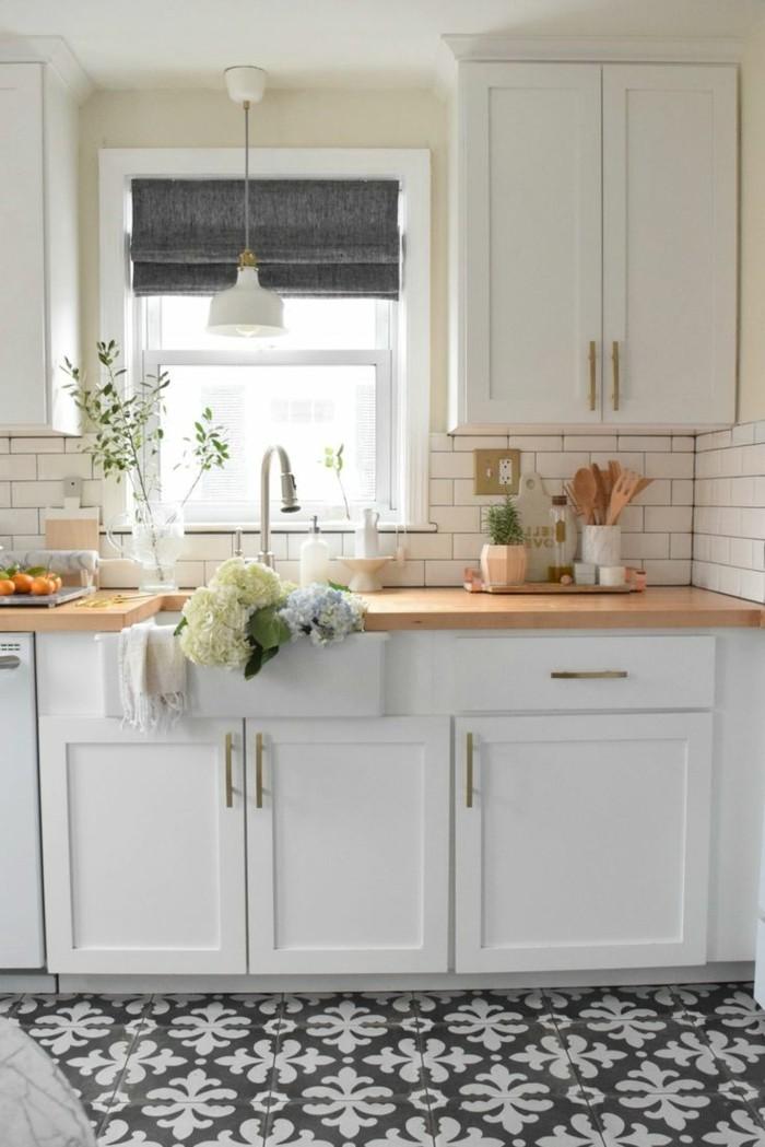 wohnideen küche weiße wandfliesen sind klassik