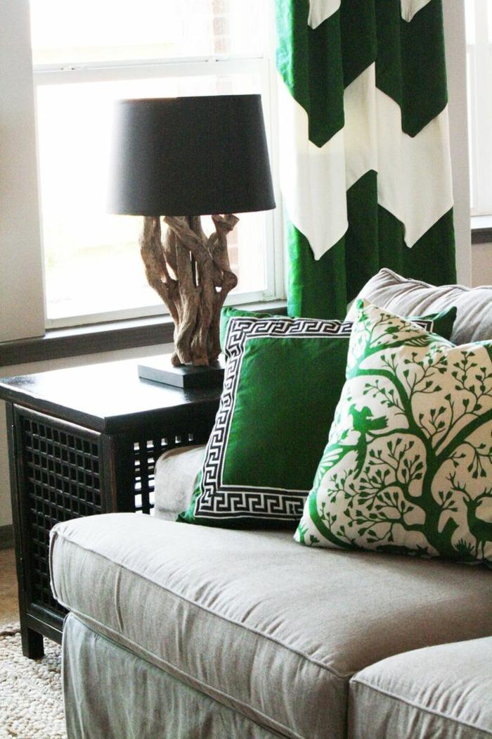 grau grünes wohnzimmer:Grünes wohnzimmer ideen : Wohnidee fürs Wohnzimmer – Richten Sie