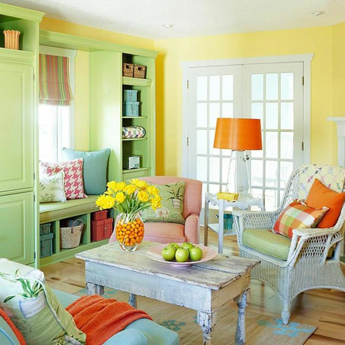 grünes wohnzimmer mit freundlichem flair:Wohnidee fürs Wohnzimmer ...