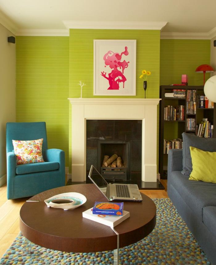 Arbeitstisch Im Grünen Wohnidee: Richten Sie Ihr Wohnzimmer In Grün Ein