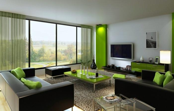 rot grün wohnzimmer deko ~ surfinser.com - Dekoideen Wohnzimmer Grun