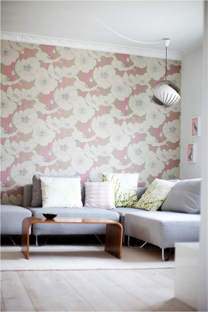71 wohnzimmer tapeten ideen wie sie die wohnzimmerw nde beleben. Black Bedroom Furniture Sets. Home Design Ideas