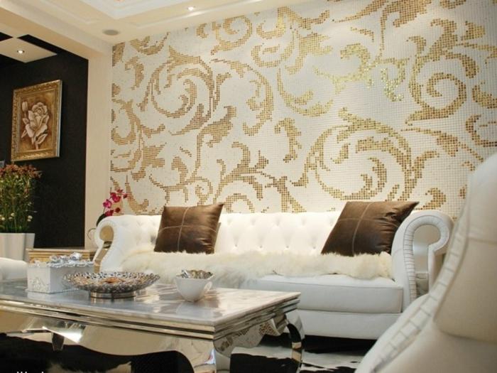 wohnzimmer modern : tapeten wohnzimmer modern ~ inspirierende ... - Tapete Modern Elegant Wohnzimmer