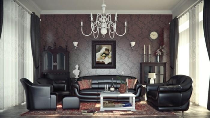 wohnzimmer tapeten ideen ganz luxuriös und trendig
