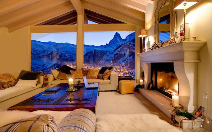 zimmer dekorieren bergpanorama zermatt schweiz