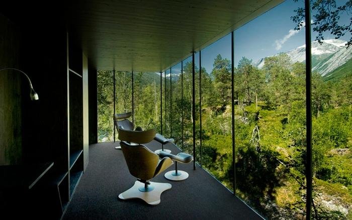 zimmer dekorieren waldpanorama norwegen
