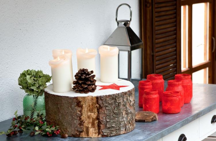 Adventskränze DIY Projekte Weihnachtsdeko Ideen