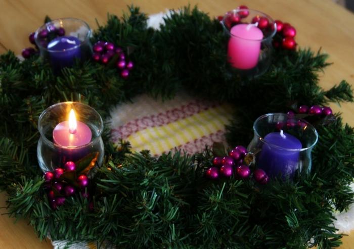 Bedeutung der rosa kerze am adventskranz