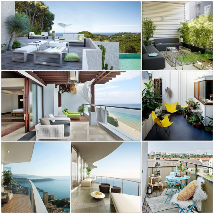 Balkon schön gestalten 60 Balkonideen Möbel und Deko Ideen