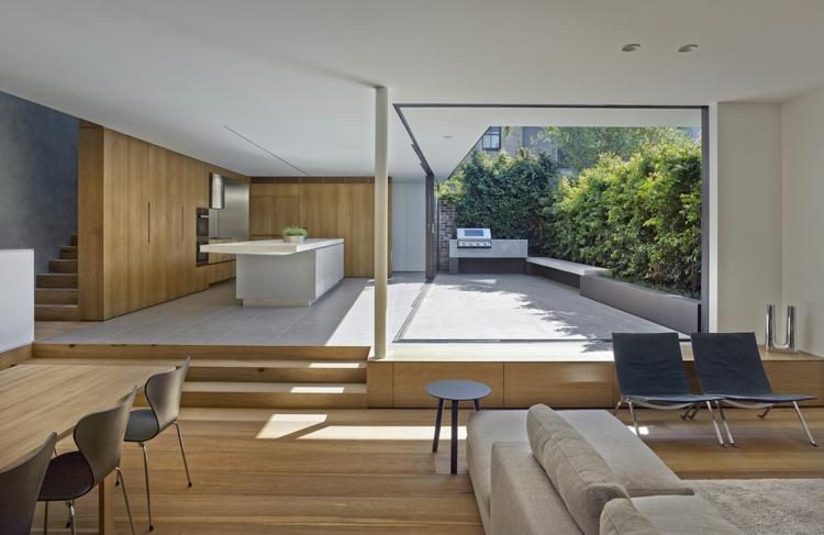 Balkon schön gestalten moderne Designer Balkonideen minimalistisch