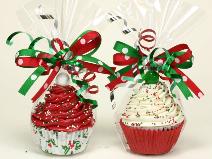 Basteln für Weihnachten persönliche Geschenke Weihnachtstörtchen backen