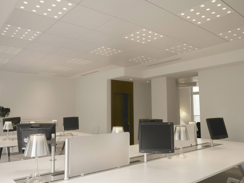 Beleuchtung am Arbeitsplatz moderne büroeinrichtung büro deckenleuchten