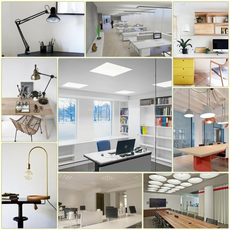 Beleuchtung am Arbeitsplatz moderne büroeinrichtung led büroleuchten stehlampe