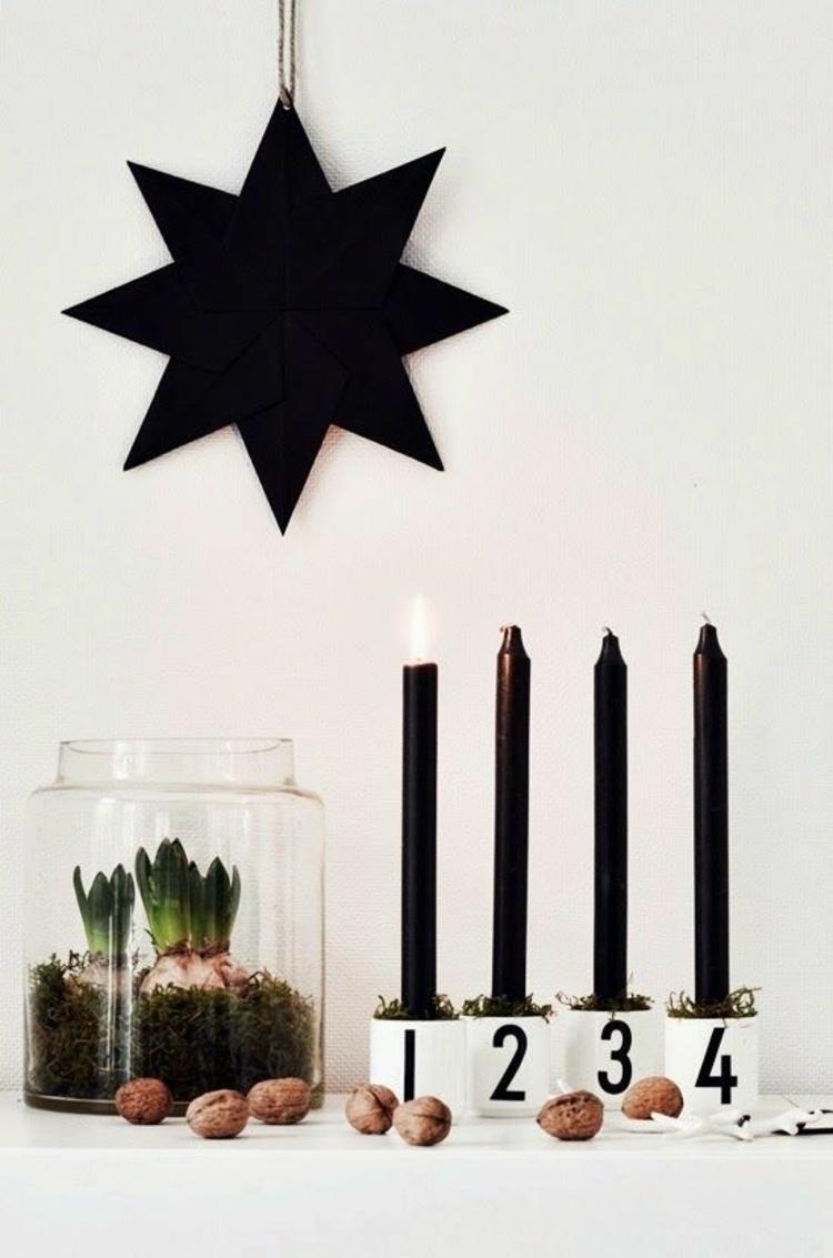DIY Adventskränze modern schöne Weihnachtsdeko basteln