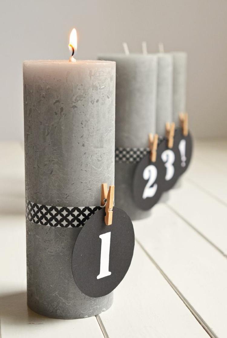 DIY Projekte Adventskranz modern schöne Weihnachtsdeko Ideen