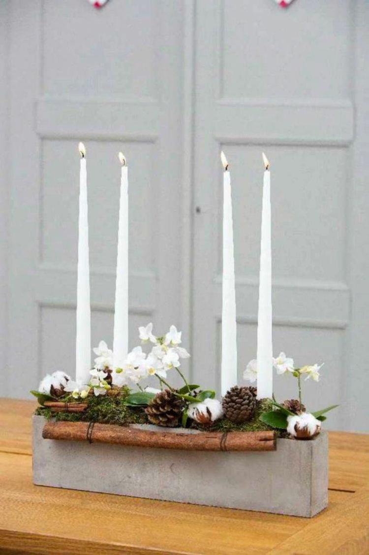 40 adventskranz ideen und die geschichte des adventskranzes - Weihnachtsdeko aus beton selber machen ...