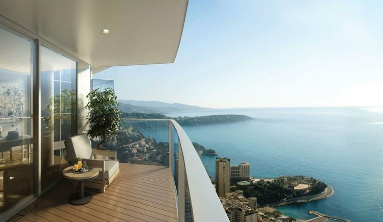 Designer Balkon Ideen Sommerhaus mit Meerblick traumhaft