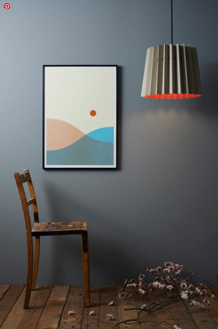 Designerleuchten hingucker im raum komposition grau poster stuhl