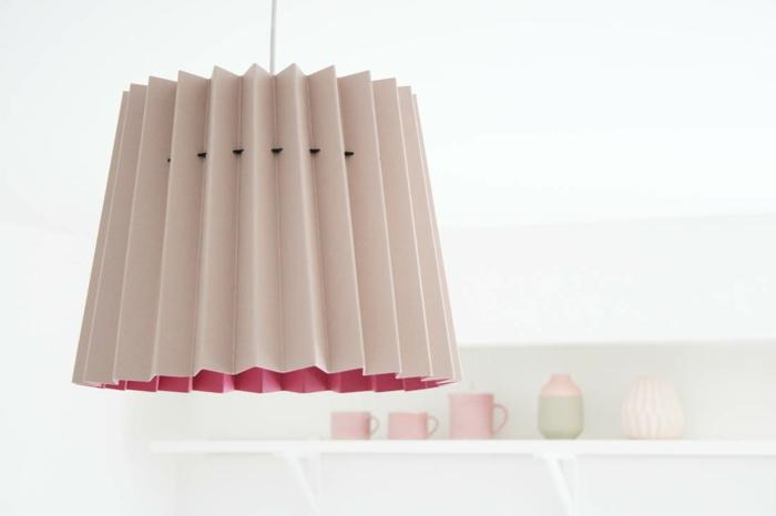 Designerleuchten lampenshirm magenta grau