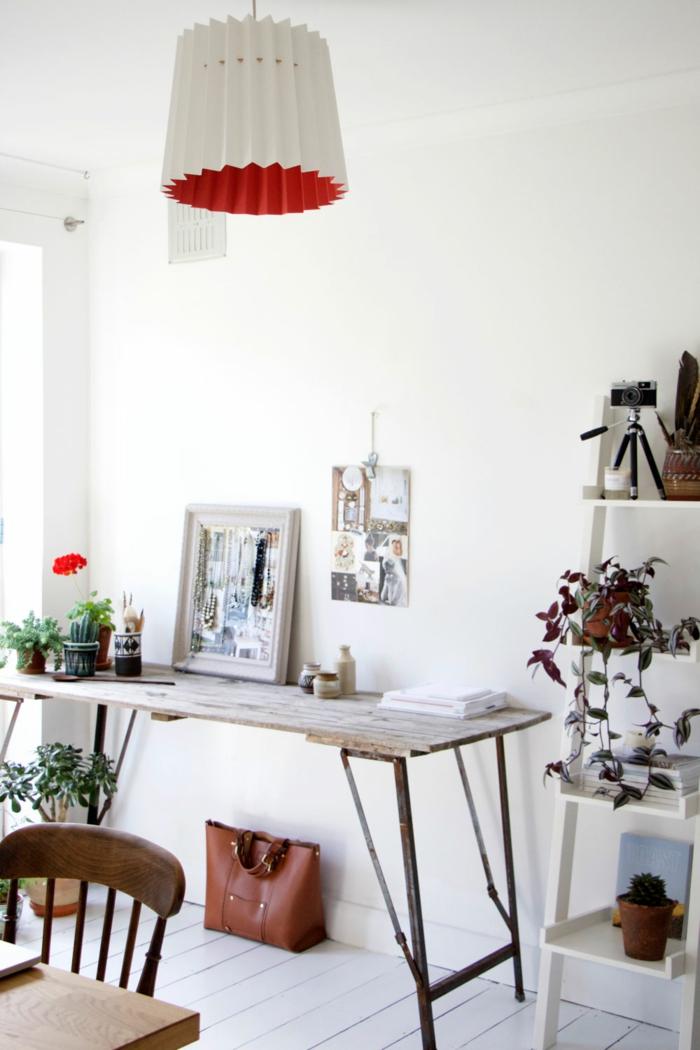 Designerleuchten lampenshirm rotweiss