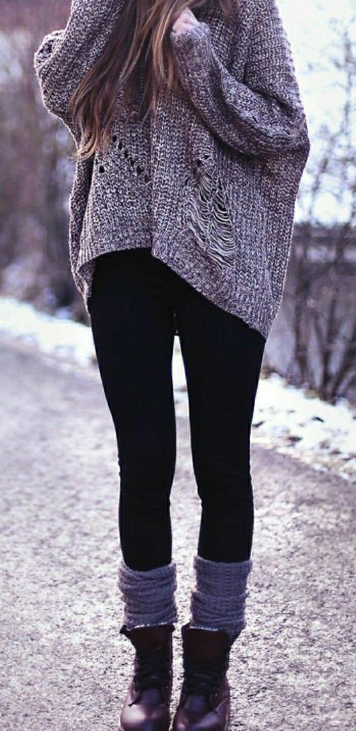 stiefeletten fashion  mode braune schuhe absatz graue socken