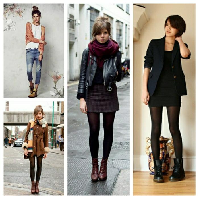 Halbstiefel stiefeletten fashion mode braune schuhe collage