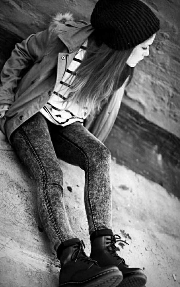 Halbstiefel damen fashion mode braune schuhe italienische schuhe grunge mode winter outfits