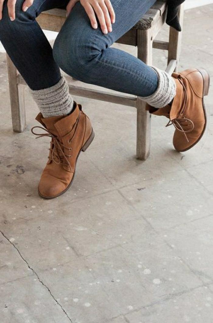Halbstiefel damen fashion mode braune schuhe italienische schuhe mode grunge