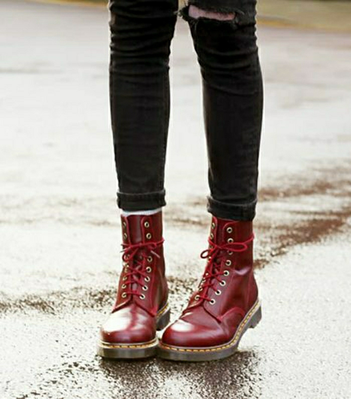 Halbstiefel stiefeletten fashion  mode schwarze schuhe outfits race up geschnuert