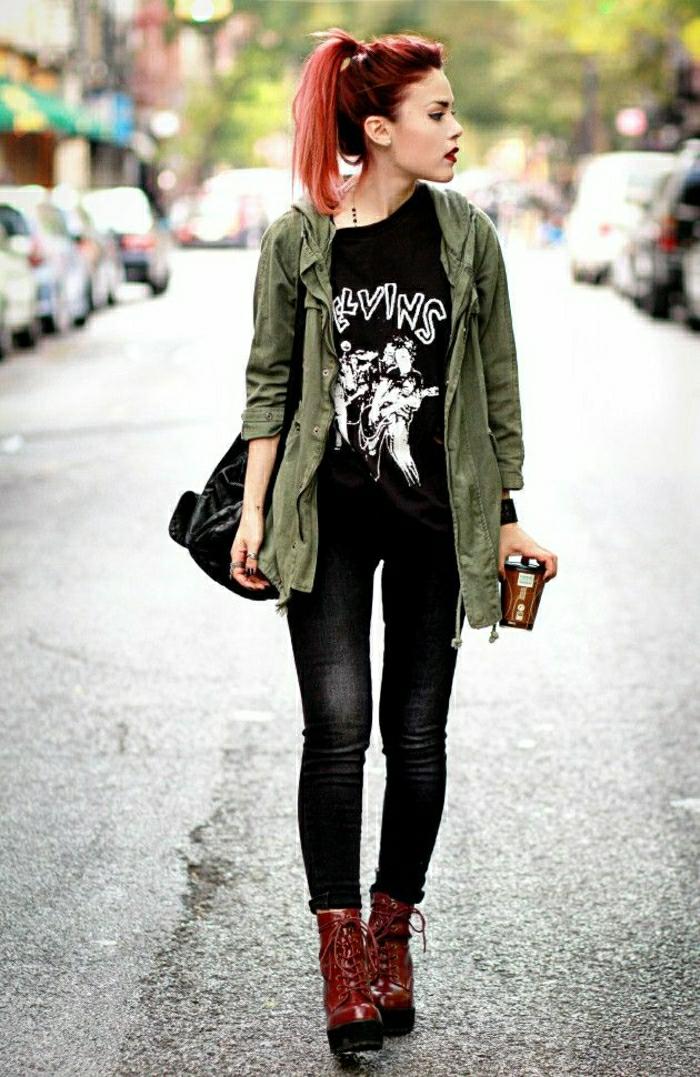 Halbstiefel damen fashion mode schwarze schuhe outfits race up