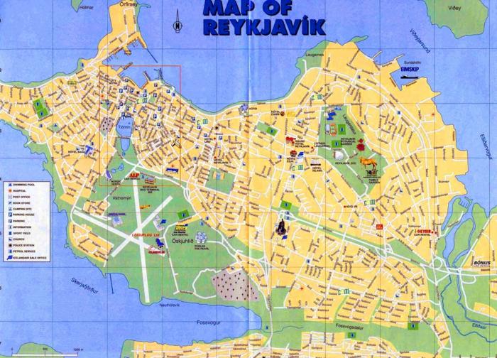 Hauptstadt Island Reykjavík sehenswürdigkeiten stadtplan