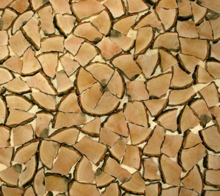 Holzfliesen holzpaneele holzverkleidung Holz fliesen fliesen holzoptik wohnideen wangestaltung holz beispiel muster