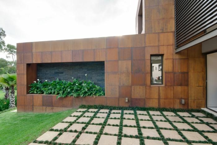 Holzfliesen holzpaneele holzverkleidung fliesen holzoptik wohnideen wangestaltung holz verkleiduning aussenfassade