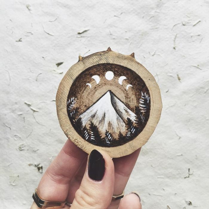 Holzkunst kunst aus holz künstler dekoration organische kunst berg