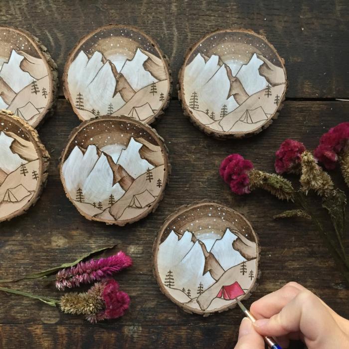 Holzkunst kunst aus holz künstler dekoration organische kunst berge