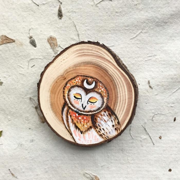 Holzkunst kunst aus holz künstler dekoration organische kunst eule