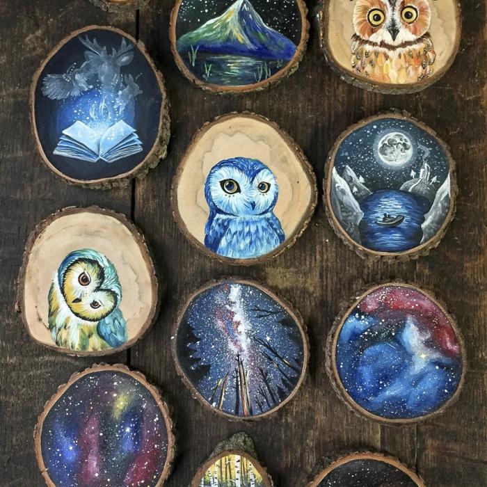 Holzkunst kunst aus holz künstler dekoration organische kunst eulen