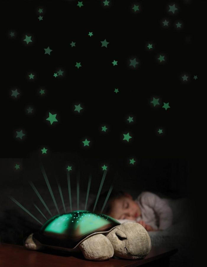 sternenhimmel lampe nachttisch schildkroete kind zimmer marienkafer