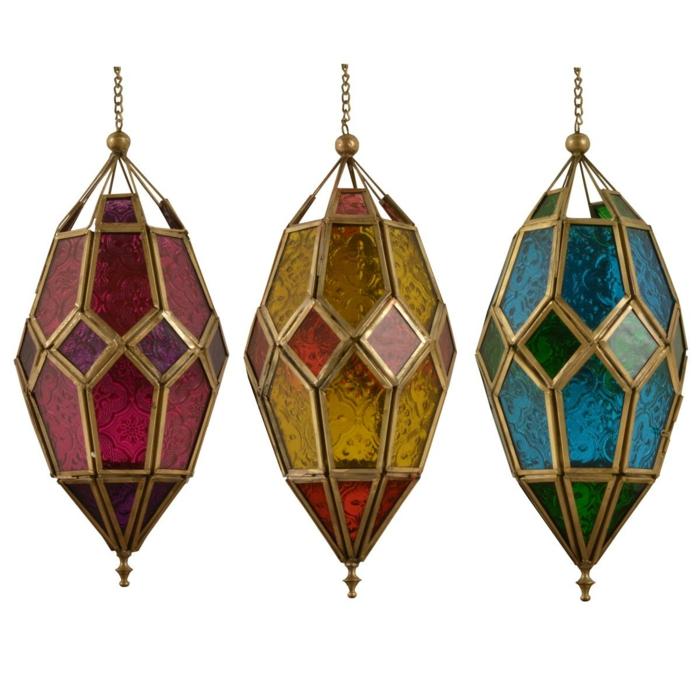 Orientalische Lampen metall edel buntes glas
