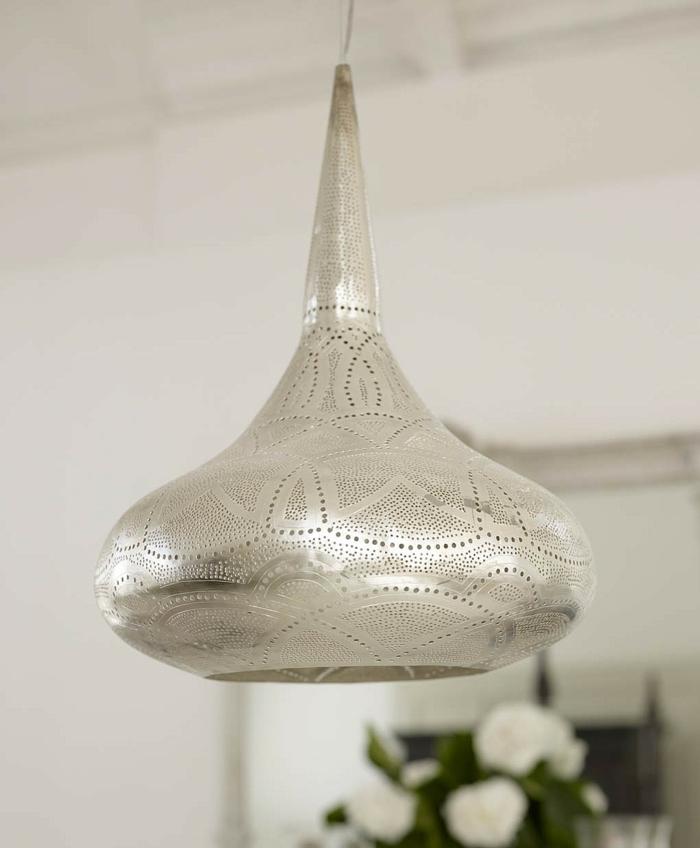 Orientalische Lampen silber graviur