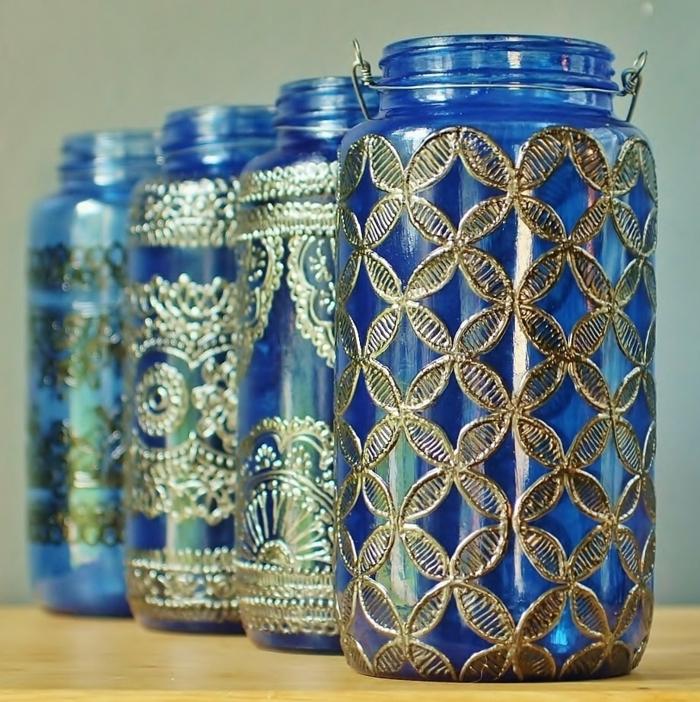 Orientalische Lampen warme blau