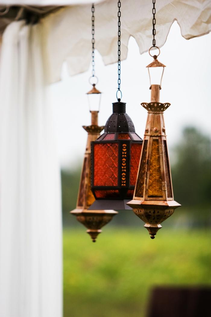 Orientalische Lampen warme haenge