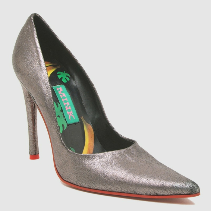 Vegane Schuhe Rebecca Mink Designerschuhe Pumps silber