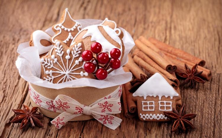 Weihnachtliche Gewürze Plätzchen mit typischen Gewürzen