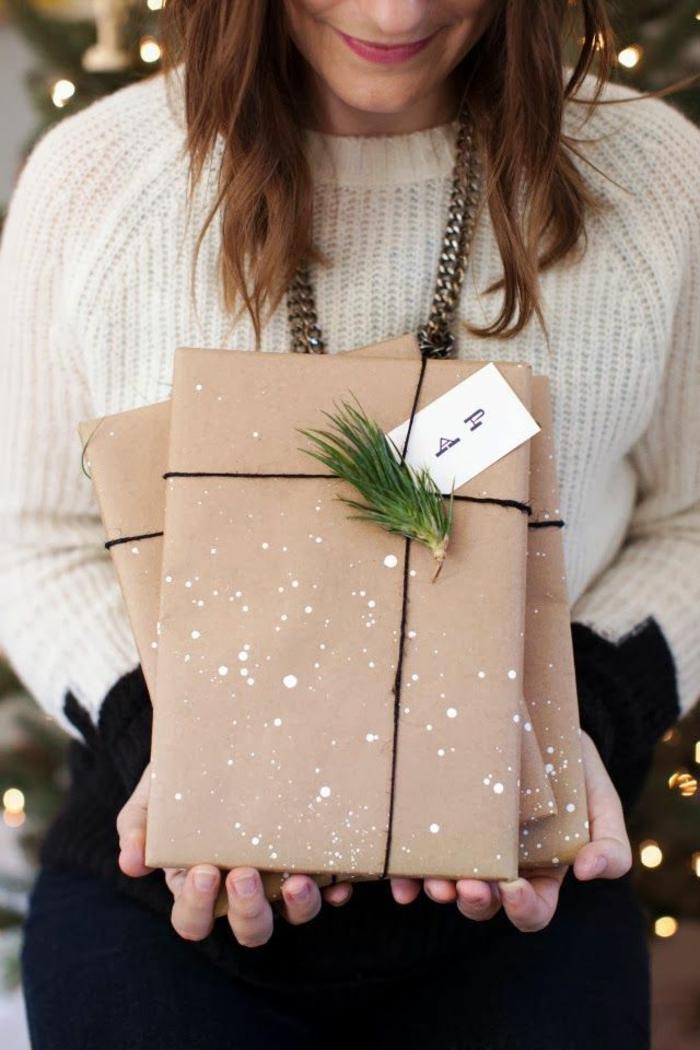Weihnachtsgeschenke selber basteln Ideen originelle Verpackung