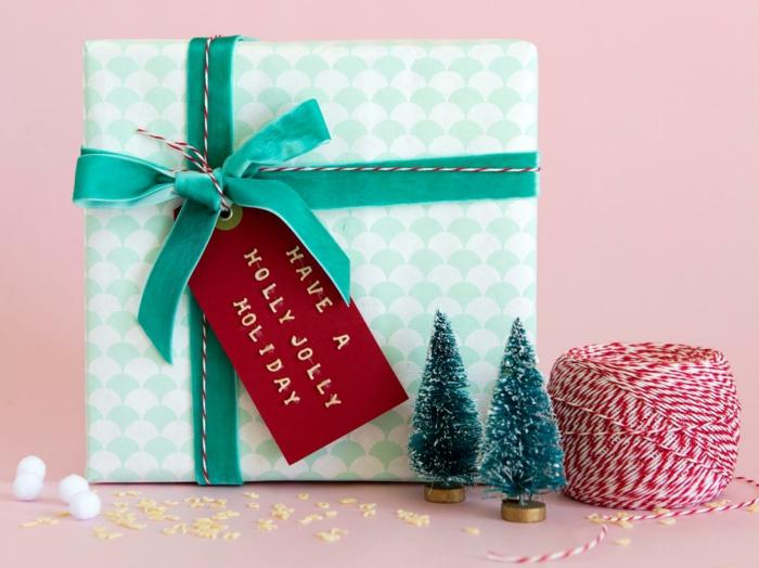 Weihnachtsgeschenke geschenk verpacken geschenke schön verpacken mint gruen