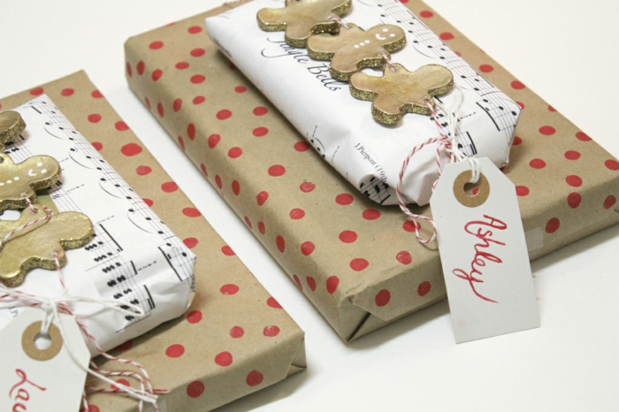 Weihnachtsgeschenke verpacken geschenk verpacken geschenke schön verpacken noten